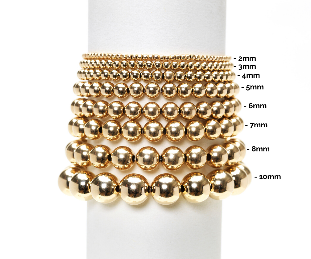 3MM Yellow Gold Filled Bracelet with Black Spinel Pattern
