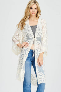 Patterned Lace Cardigan