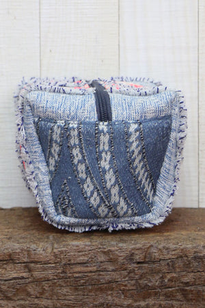 Frayed Denim Origami Bag