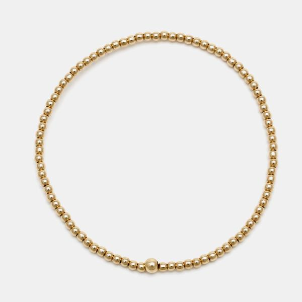 2mm Yellow Gold Filled Bracelet - CHILD SIZE