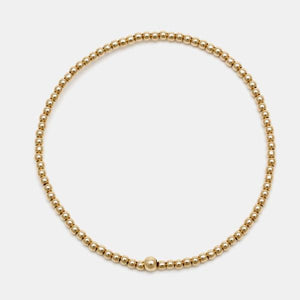 2mm Gold Filled Bead Bracelet
