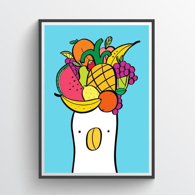 Fruit Hat Duck Giclee Print