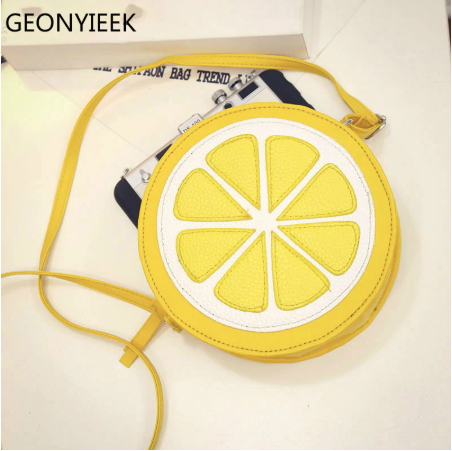 2019 Circular Orange Lemon Women Bag