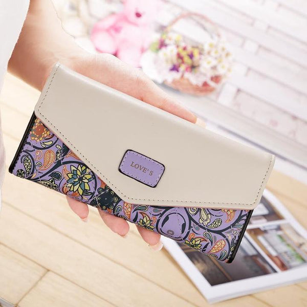 Fashion Printed Large Capacity Clutch Long Wallet