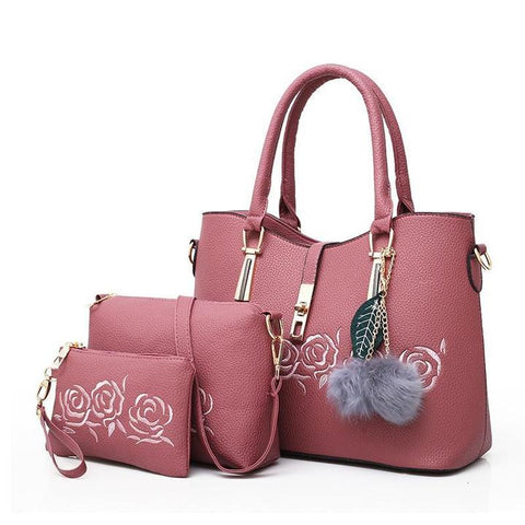3pcs Women Bag Set Casual Tote