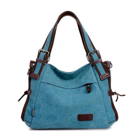 Canvas Solid Shoulder Bags