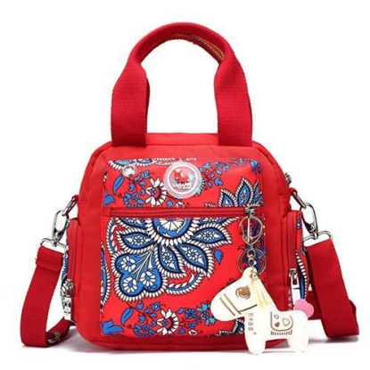 Floral Printed Mini Shoulder Handbag Backpack