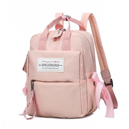 Solid Color Outdoor School Backpack