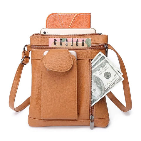 Casual Leather Crossbody Shoulder Phone Bag