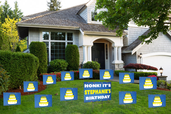 'You've Been Birthday Caked' Yard Signs (Adult) - Bundle Pack