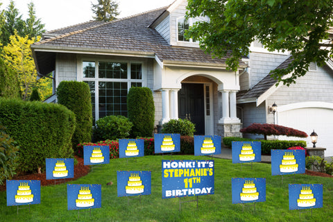 'You've Been Birthday Caked' Yard Signs (Youth) - Bundle Pack
