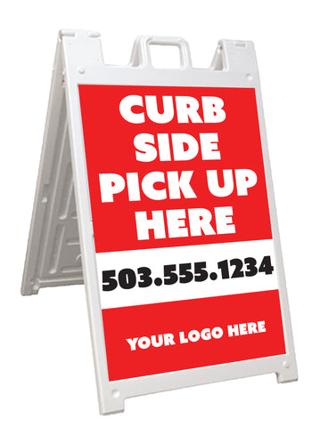 Curb Side Pick Up A-Frame Signicade Sign