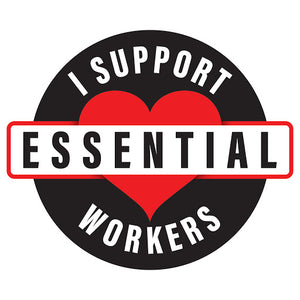 """I Support Essential Workers"" Sticker"