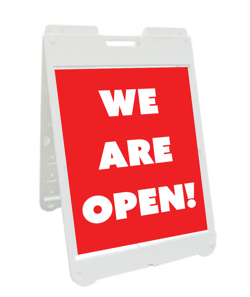 We are OPEN for Business Simpo A-Frame Sign