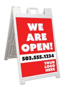 We are OPEN for Business A-Frame Signicade Sign
