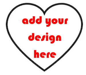 CUSTOM HEART - CREATE YOUR OWN Sticker