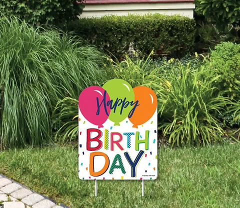 "24""x18"" Generic Happy Birthday Yard Signs"
