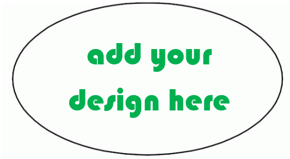 CUSTOM OVAL - CREATE YOUR OWN Sticker
