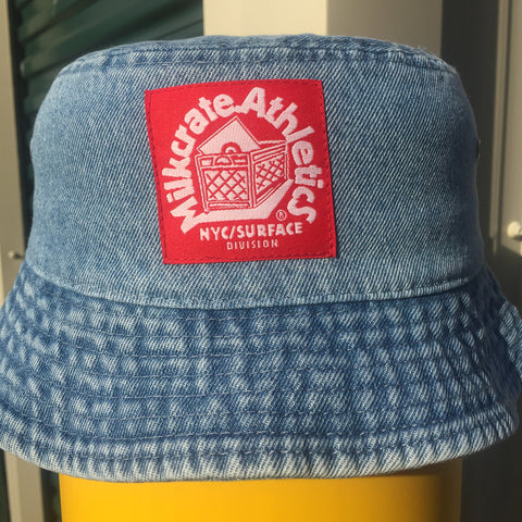 Washed Denim Bucket Hat