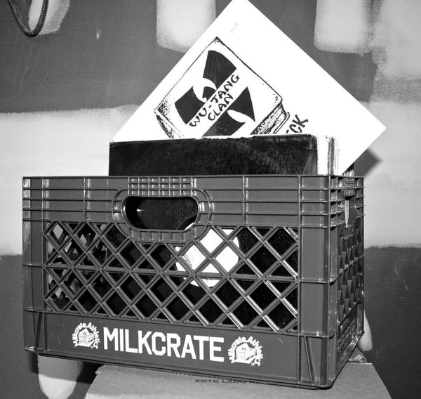 "Milkcrate ""Milkcrate"" B&W photo"