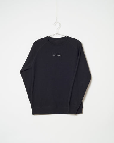 CAPESON EMBROIDERY SWEATSHIRT (BLACK, GRAY)