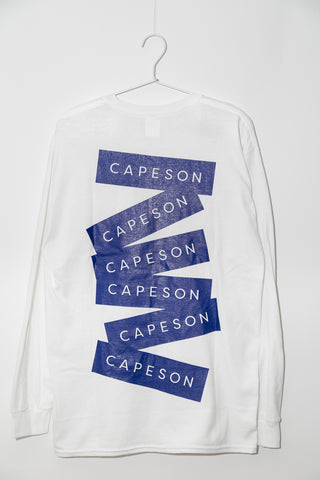 "CAPESON LONG ""STICKERS"" TEE SHIRT (BLUE)"
