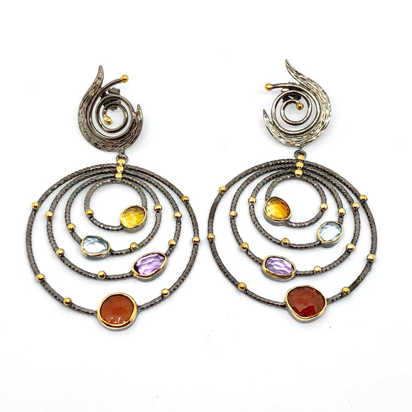 Planet Gem Earrings