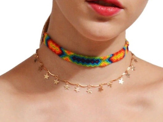 Rainbow friendship Choker