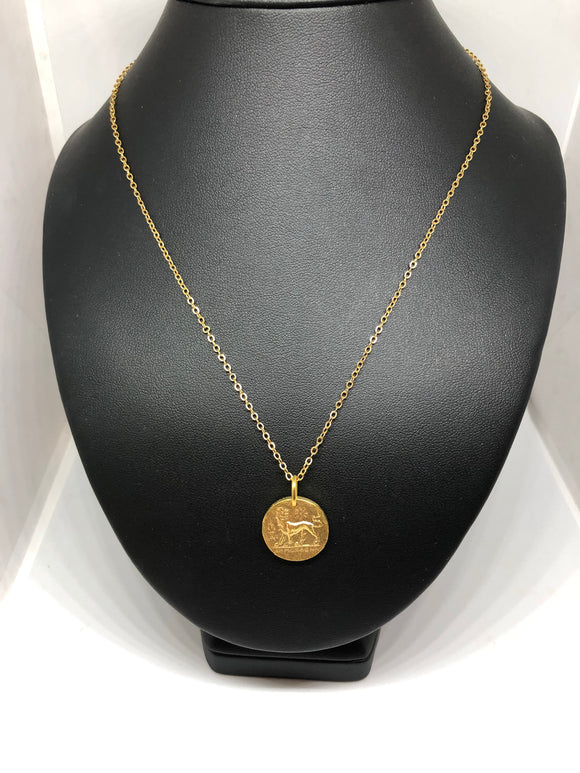 Ancient Coin Figure Necklace