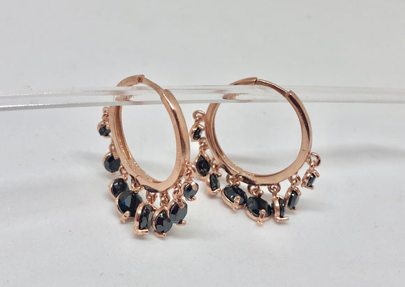 Jingle hoop earrings
