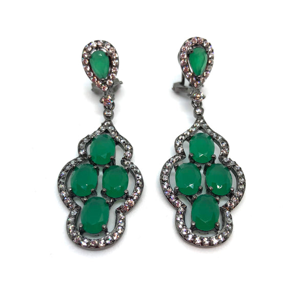 Escape Green Earrings