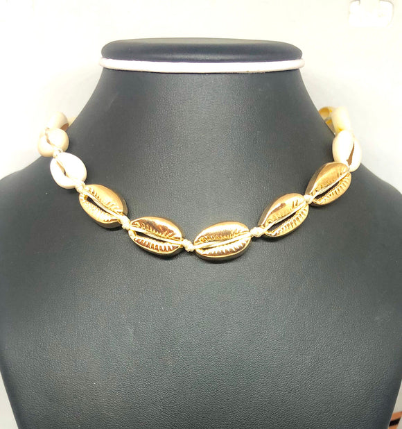Boho Tropic Puka Shell Collar