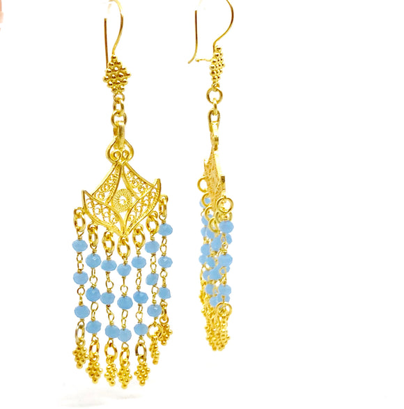 Boho Augusta Blue Earrings
