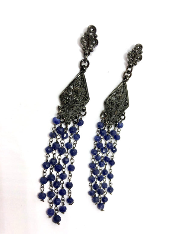 Boho Claudia Blu Sapphire Earrings