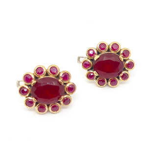 Margarita red earrings