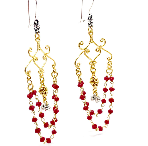 Boho Saha Red Earrings