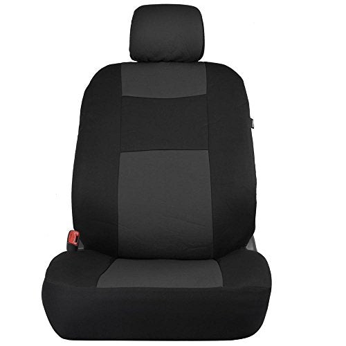 Gulfhop Black Charcoal Gray Car Seat Cover