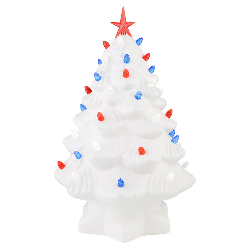 Patriotic Nostalgic Tree Set - Red, White & Blue