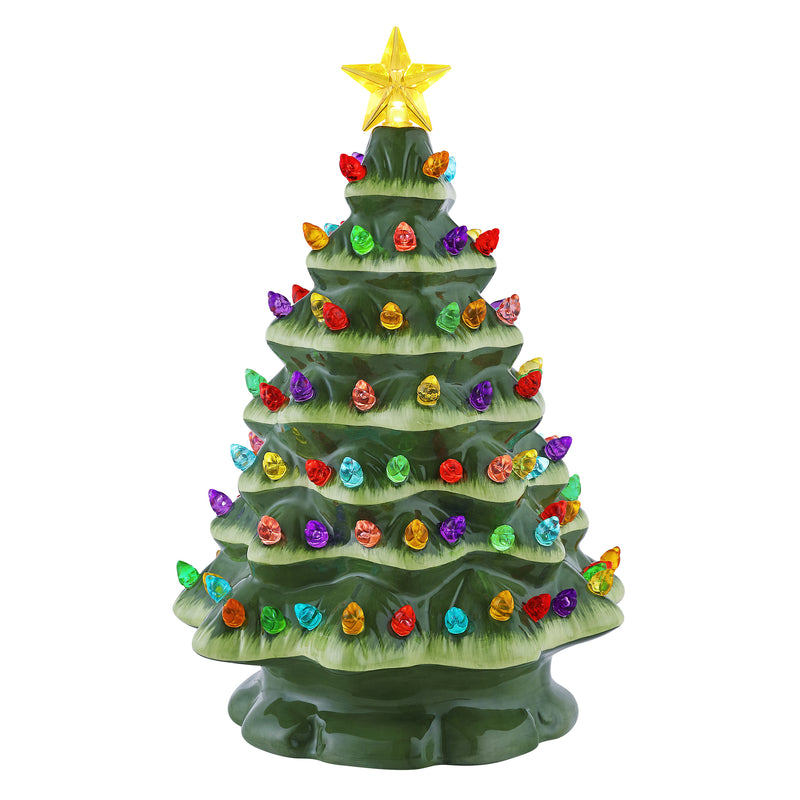 "9"" Starry Night Nostalgic Tree - Green"