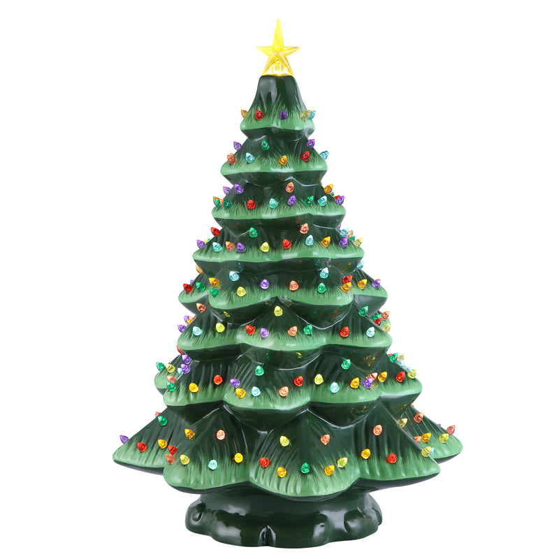 "18"" Starry Night Nostalgic Tree - Green"