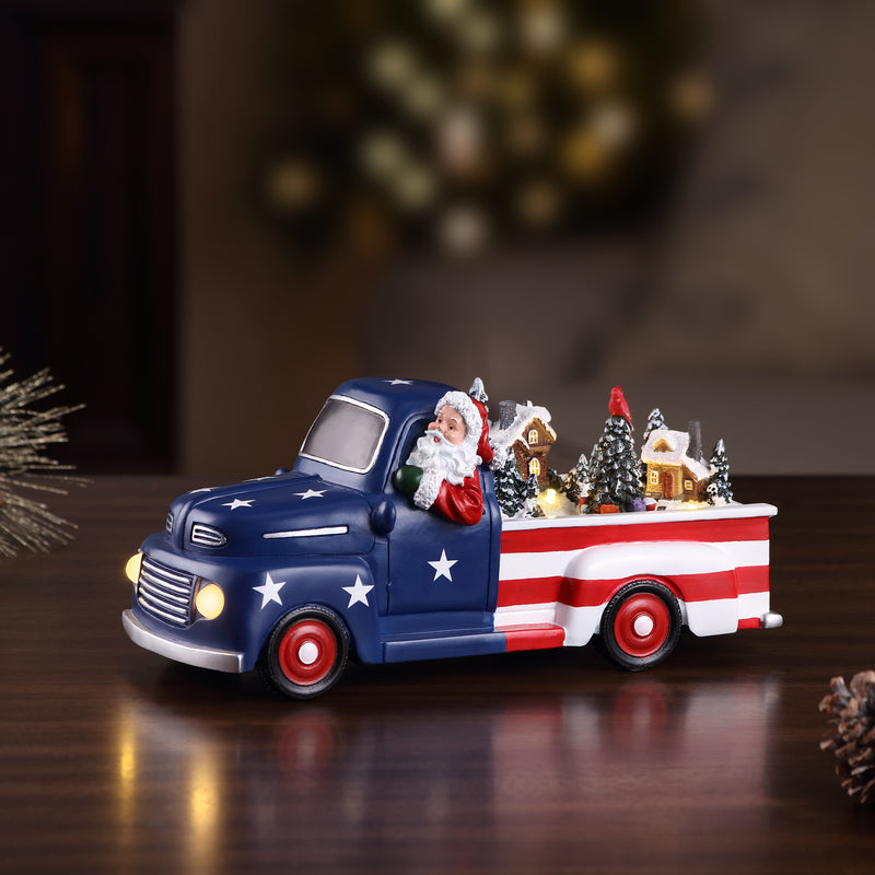 "10.5"" Animated Patriotic Truck"
