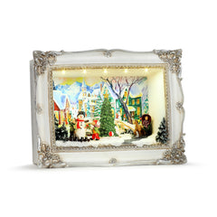 Animated Village Scene Shadow Box