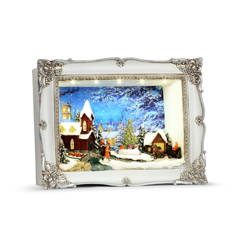 Animated Church Scene Shadow Box