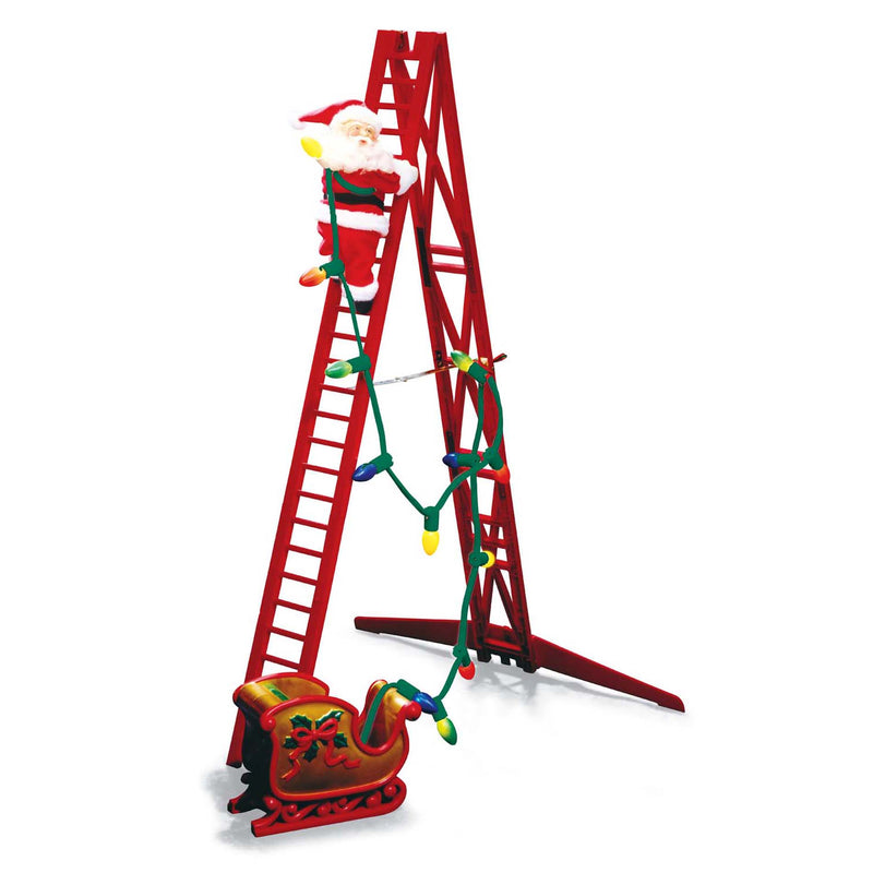 Limited Edition Double Ladder Stepping Santa