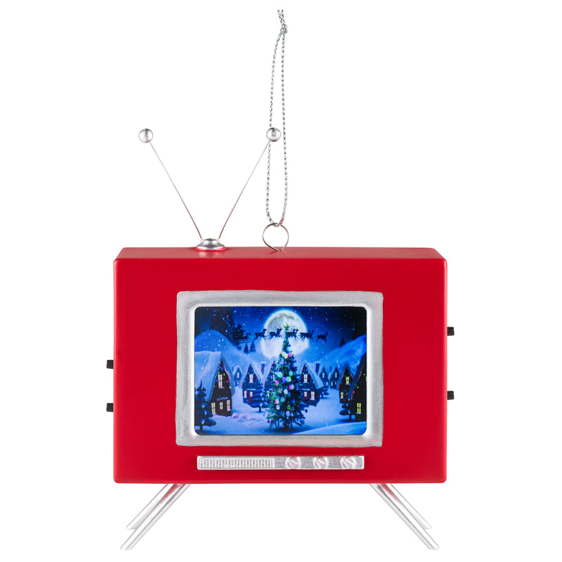 LCD Vintage TV Ornament
