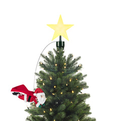Animated Tree Topper - Flying Santa with Cape