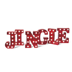 LED Metal Marquee Letters - JINGLE BELLS