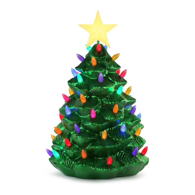 "36"" Blow Mold Nostalgic Metallic Tree"