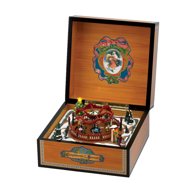 Deluxe Vintage Carousel Music Box