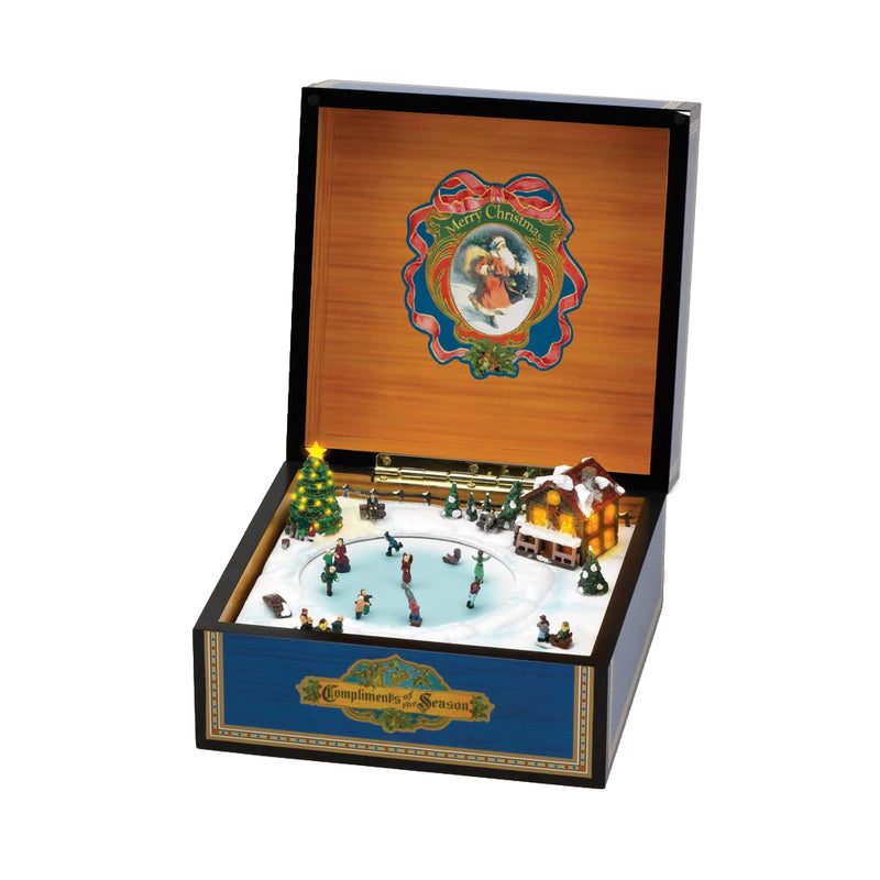 Deluxe Vintage Music Box with Skaters